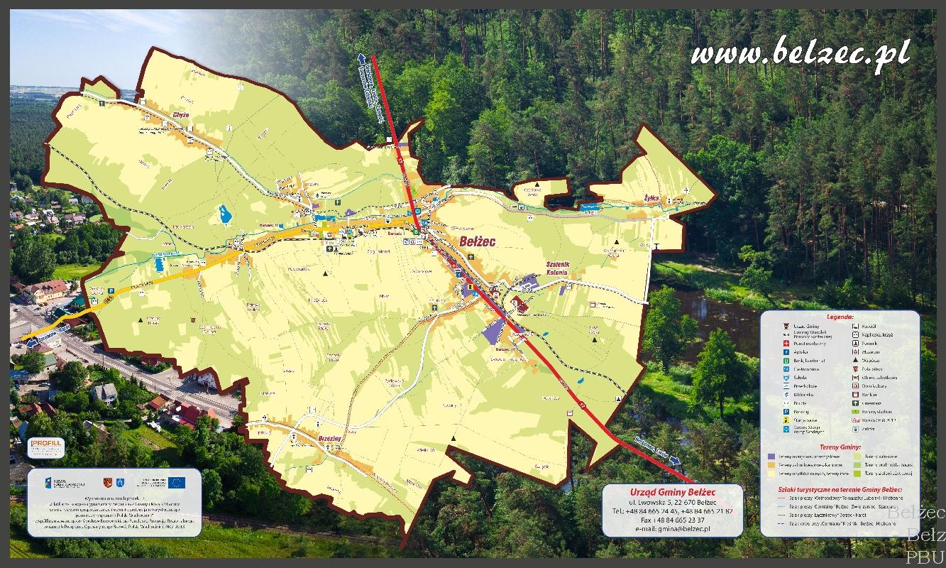 6.Bełżec - plan Gminy sam kontur mapy