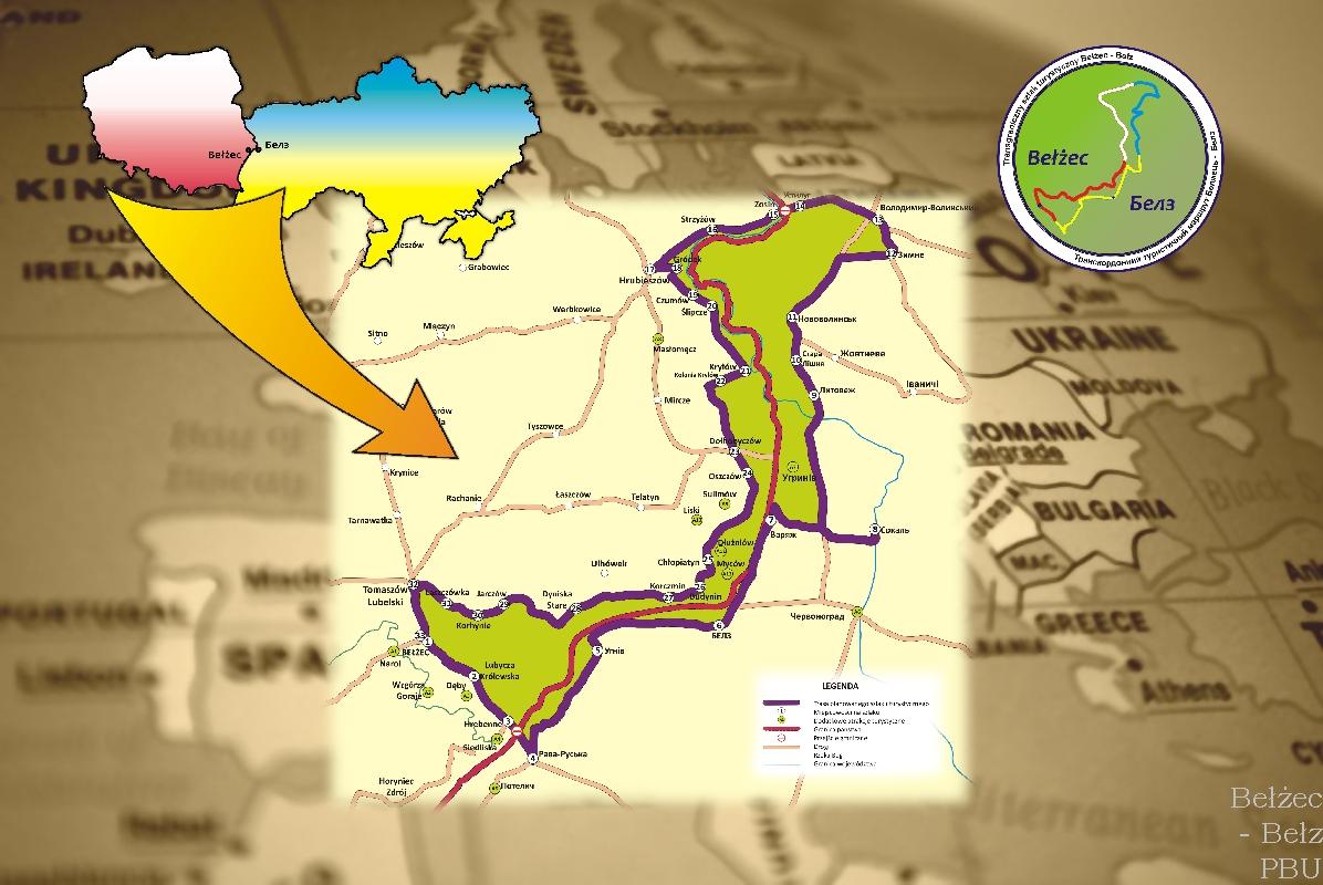 mapa szlak BBB